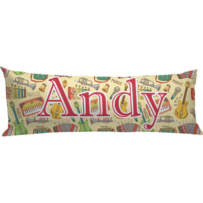 Vintage Musical Instruments Body Pillow Case (Personalized)