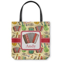 Vintage Musical Instruments Canvas Tote Bag (Personalized)