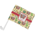 Vintage Musical Instruments Car Flag (Personalized)
