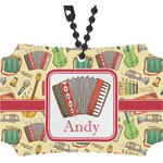 Vintage Musical Instruments Rear View Mirror Ornament (Personalized)
