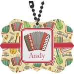 Vintage Musical Instruments Rear View Mirror Charm (Personalized)