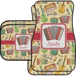 Vintage Musical Instruments Car Floor Mats (Personalized)