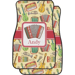 Vintage Musical Instruments Car Floor Mats (Front Seat) (Personalized)
