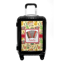 Vintage Musical Instruments Carry On Hard Shell Suitcase (Personalized)