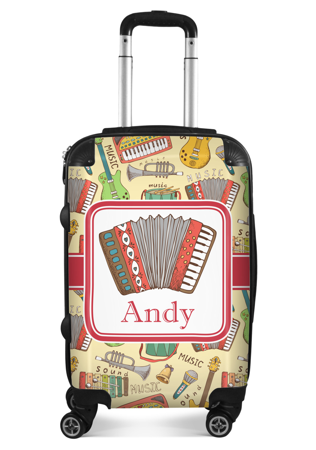 Personalized YouCustomizeIt Vintage Musical Instruments Duffel Bag