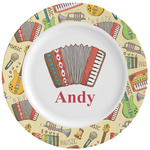 Vintage Musical Instruments Ceramic Dinner Plates (Set of 4) (Personalized)