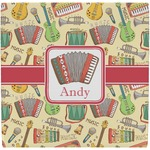 Vintage Musical Instruments Ceramic Tile Hot Pad (Personalized)
