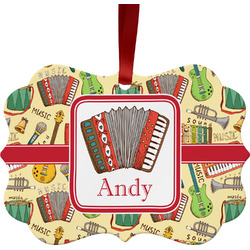 Vintage Musical Instruments Ornament (Personalized)