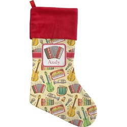 Vintage Musical Instruments Christmas Stocking (Personalized)