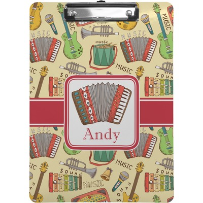 Vintage Musical Instruments Clipboard (Personalized)