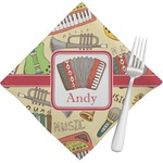 Vintage Musical Instruments Napkins (Set of 4) (Personalized)