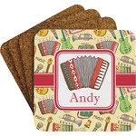 Vintage Musical Instruments Coaster Set w/ Stand (Personalized)
