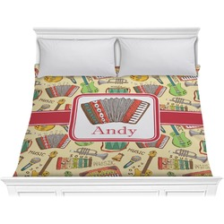 Vintage Musical Instruments Comforter - King (Personalized)