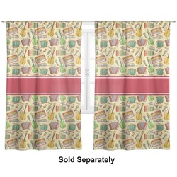 "Vintage Musical Instruments Curtains - 56""x80"" Panels - Lined (2 Panels Per Set) (Personalized)"