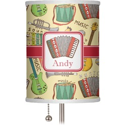 "Vintage Musical Instruments 7"" Drum Lamp Shade (Personalized)"