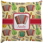 Vintage Musical Instruments Decorative Pillow Case (Personalized)