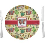 """Vintage Musical Instruments Glass Lunch / Dinner Plates 10"""" - Single or Set (Personalized)"""