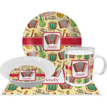 Vintage Musical Instruments Dinner Set - 4 Pc (Personalized)