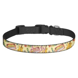 Vintage Musical Instruments Dog Collar - Multiple Sizes (Personalized)