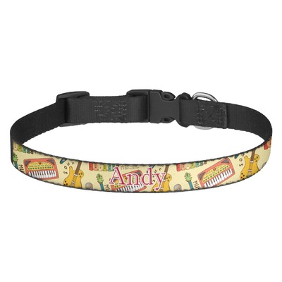 Vintage Musical Instruments Dog Collar (Personalized)
