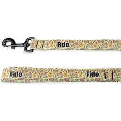 Vintage Musical Instruments Deluxe Dog Leash (Personalized)