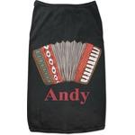 Vintage Musical Instruments Black Pet Shirt (Personalized)