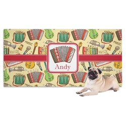 Vintage Musical Instruments Dog Towel (Personalized)