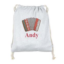 Vintage Musical Instruments Drawstring Backpack - Sweatshirt Fleece (Personalized)