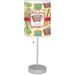 """Vintage Musical Instruments 7"""" Drum Lamp with Shade (Personalized)"""