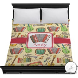 Vintage Musical Instruments Duvet Cover (Personalized)