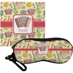 Vintage Musical Instruments Eyeglass Case & Cloth (Personalized)