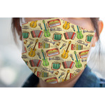 Vintage Musical Instruments Face Mask Cover (Personalized)