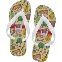 Vintage Musical Instruments Flip Flops (Personalized)