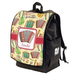 Vintage Musical Instruments Backpack w/ Front Flap  (Personalized)