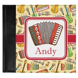 Vintage Musical Instruments Genuine Leather Baby Memory Book (Personalized)