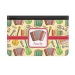 Vintage Musical Instruments Genuine Leather ID & Card Wallet - Slim Style (Personalized)