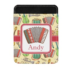Vintage Musical Instruments Genuine Leather Money Clip (Personalized)