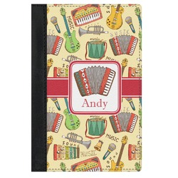 Vintage Musical Instruments Genuine Leather Passport Cover (Personalized)