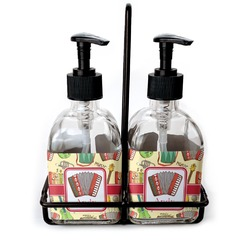 Vintage Musical Instruments Glass Soap & Lotion Bottles (Personalized)