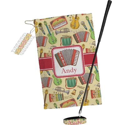 Vintage Musical Instruments Golf Towel Gift Set (Personalized)