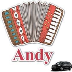 Vintage Musical Instruments Graphic Car Decal (Personalized)