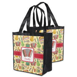 Vintage Musical Instruments Grocery Bag (Personalized)