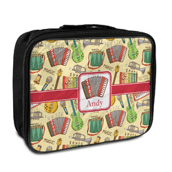 Vintage Musical Instruments Insulated Lunch Bag (Personalized)