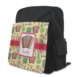 Vintage Musical Instruments Preschool Backpack (Personalized)