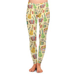 Vintage Musical Instruments Ladies Leggings (Personalized)