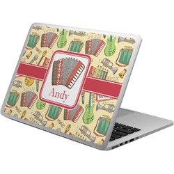 Vintage Musical Instruments Laptop Skin - Custom Sized (Personalized)