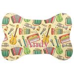 Vintage Musical Instruments Bone Shaped Dog Food Mat (Personalized)