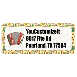 Vintage Musical Instruments Return Address Labels (Personalized)