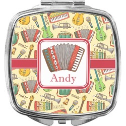 Vintage Musical Instruments Compact Makeup Mirror (Personalized)