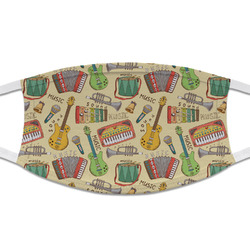 Vintage Musical Instruments Cloth Face Mask (T-Shirt Fabric) (Personalized)